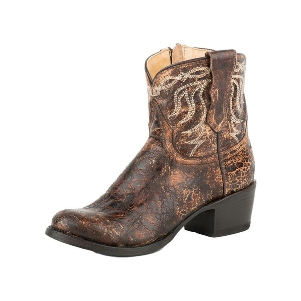Stetson Western Boots Womens Sarah Leather Brown