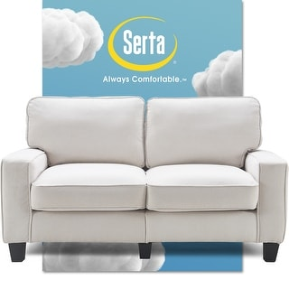 "Link to Serta Palisades Upholstered 61"" Loveseat Modern Design, Straight Arms Similar Items in Sofas & Couches"