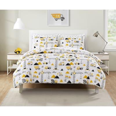 Olivia & Finn Construction Trucks Bed-in-a-Bag Comforter Set