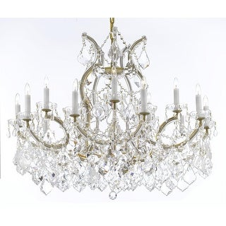 Maria Theresa Crystal Chandelier 16 Lights Gold