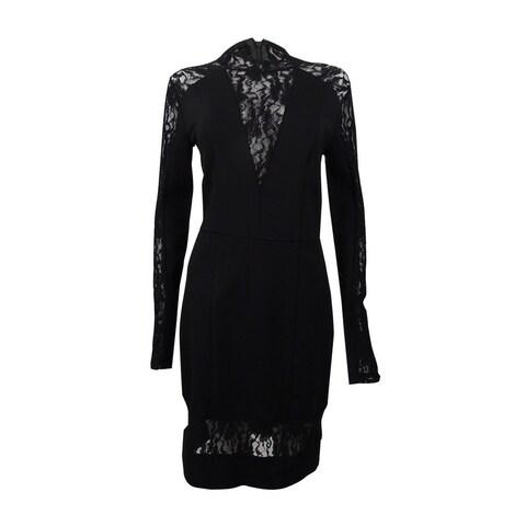 Rachel Rachel Roy Women's Lace Contrast Body-Con Dress - Black