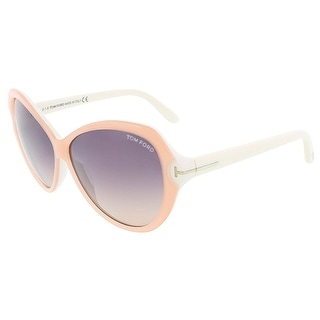 Tom Ford FT0326/S 74B VALENTINA Light Peach/White Butterfly sunglasses