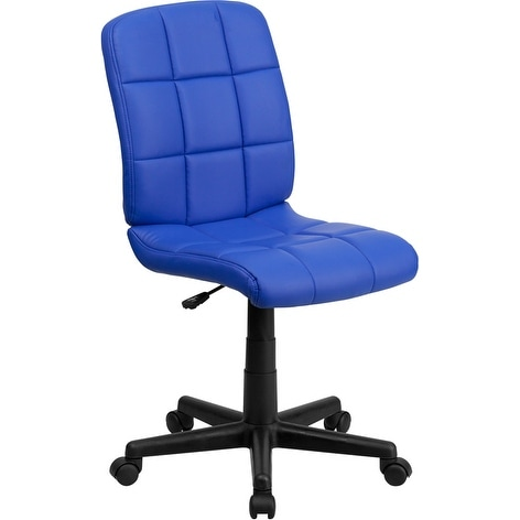 Alexandria Bay Mid-Back Blue Quilted Vinyl Swivel Home/Office Task Chair