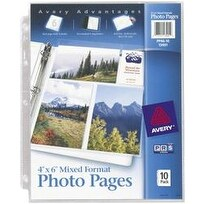"- Mixed Format Photo Pages 4""X6"" 10/Pkg"