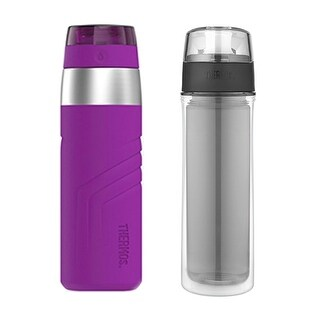 Thermos 20oz Insulated Sporty Drink Bottle w/ 18oz Hydration Bottle
