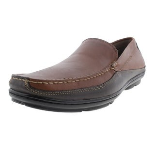 Chaps Mens Cason Leather Formal Slip On Shoes