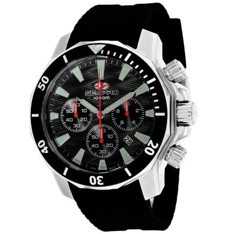 Seapro Men's Scuba Dragon Diver Limited Edition 1000 Meters Black Dial Watch - SP8340R - One Size