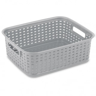 Sterilite 12726A06 Short Weave Basket, Cement
