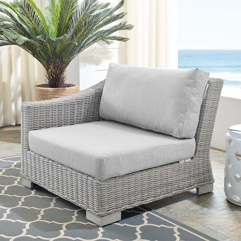 Conway Outdoor Patio Wicker Rattan Left-Arm Chair