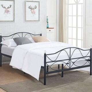 VECELO Kids Beds Twin/Queen Size Metal Bed Frames