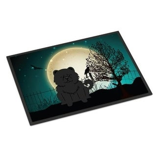 Carolines Treasures BB2333MAT Halloween Scary Chow Chow Black Indoor or Outdoor Mat 18 x 0.25 x 27 in.