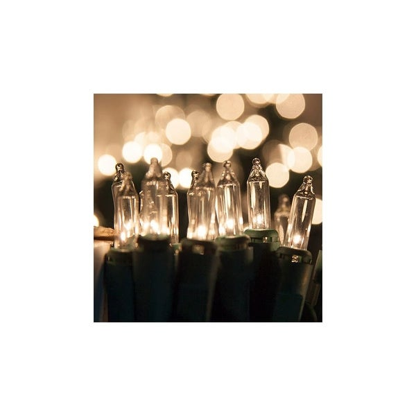 "Wintergreen Lighting 15188 10.7' Long Indoor Standard 50 Mini Light Holiday Light Strand with 2.5"" Spacing and Green Wire"