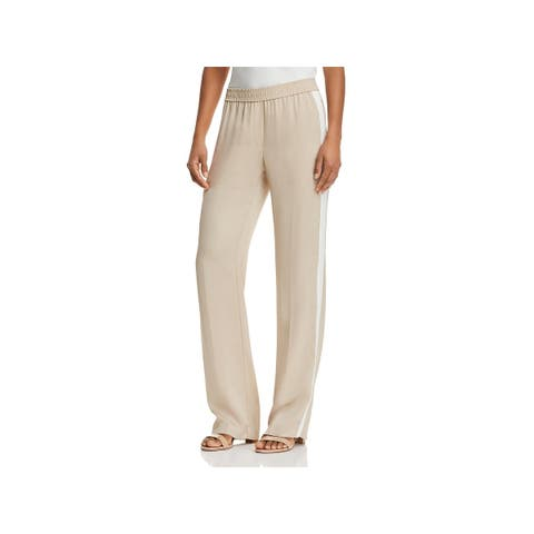 Theory Womens Track Pants Silk Striped