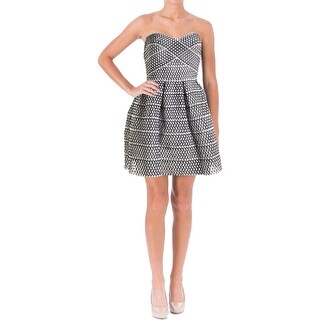 WOW Couture Womens Juniors Woven Strapless Casual Dress