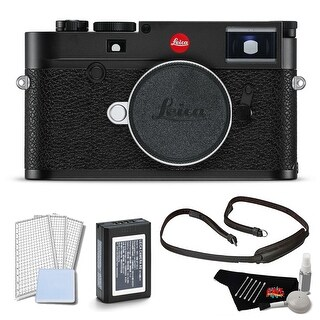 Leica M10 Digital Rangefinder Camera (Black or Silver) Body Kit with LCD Screen Protector and Cleaning Kit