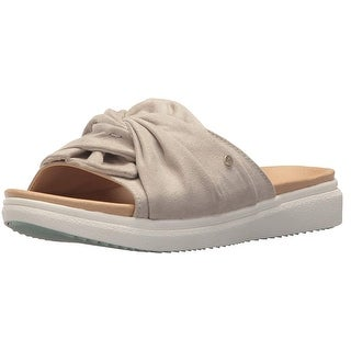 Use-Custom-Brand Womens Wander On Fabric Open Toe Casual Slide Sandals