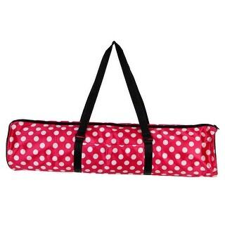 Shoulder Strape Fitness Pad Carrier Yoga Pilates Mat Packing Bag Fuchsia White