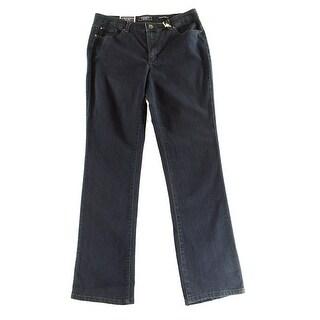 Charter Club NEW Blue Women's 12 Prescott Rhinestone Boot Cut Jeans
