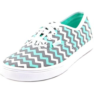 Vans Girls Authentic Lo Pro Canvas Low Top Lace Up Skateboarding Shoes (Option: (chevron) brmda./fstgr/trwt - 11us youth)