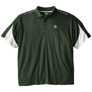 Umbro Mens Big & Tall Pique Colorblock Polo Shirt