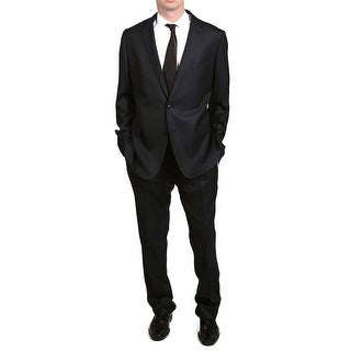 Versace Collection Men's Pinstripe Two-Piece Wool Suit Black/Tan