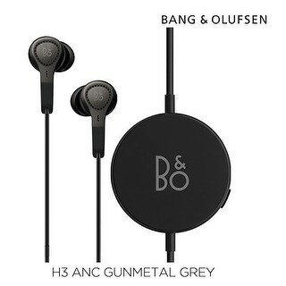 B&O PLAY Bang & Olufsen Beoplay H3 ANC Active Noise Cancelling In-Ear Headphones - Gunmetal Grey