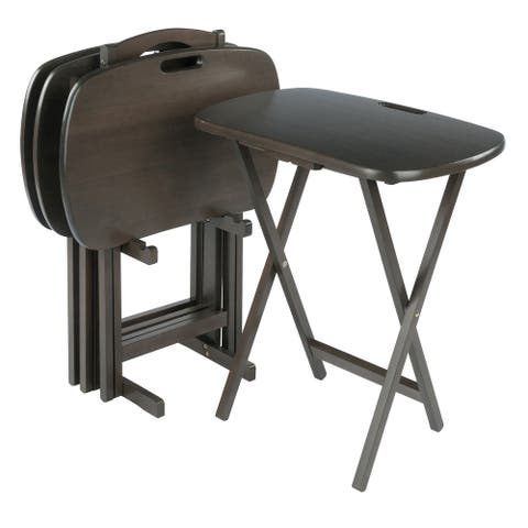 Lucca 5-Pc Snack Table Set, Oyster Gray