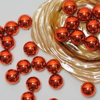 "60ct Burnt Orange Shatterproof Shiny Christmas Ball Ornaments 2.5"" (60mm)"