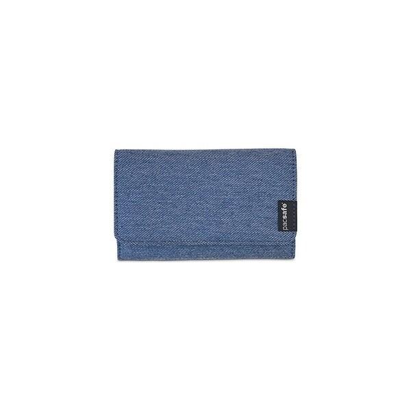 Pacsafe RFIDsafe LX100 - Denim RFID Blocking Wallet w/ Snap Button Closure