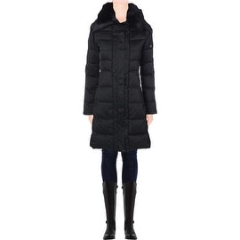 Elie Tahari Womens Christina Quilted Down Insulated Puffer Coat