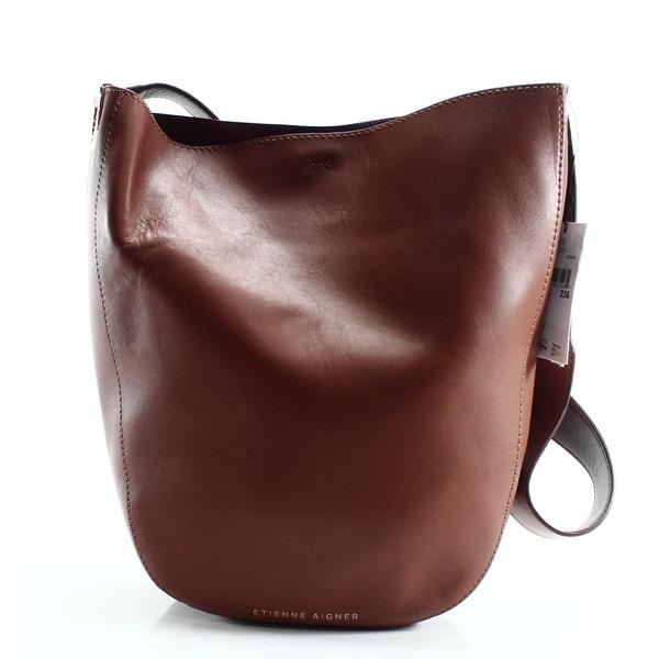 5c401a2fef Shop Etienne Aigner NEW Brown Cognac Leather Mara Mini Hobo Shoulder ...