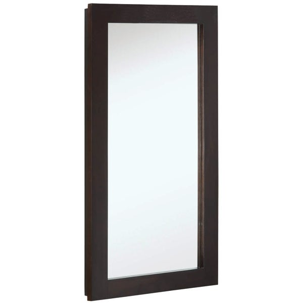 """Design House 541326 16"""" Framed Single Door Mirrored Medicine Cabinet from the Ventura Collection - Espresso - N/A"""