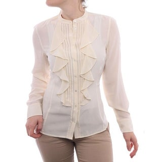L.K. Bennett TW/Bijou Long Sleeve Collared Button Down Women Button Down