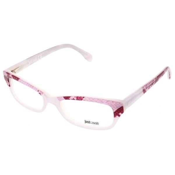 Shop Just Cavalli JC0473/V 024 Pink Snakeskin Print Rectangle ...