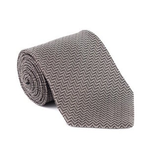 Tom Ford Mens Multiple Colored Geometric Stripped Silk Tie - One size