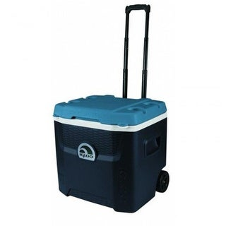 Igloo 231095 52 qt. Maxcold Quantum Roller Cooler, Blue & White
