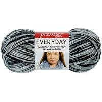 Deborah Norville Collection Everyday Print Yarn-Black