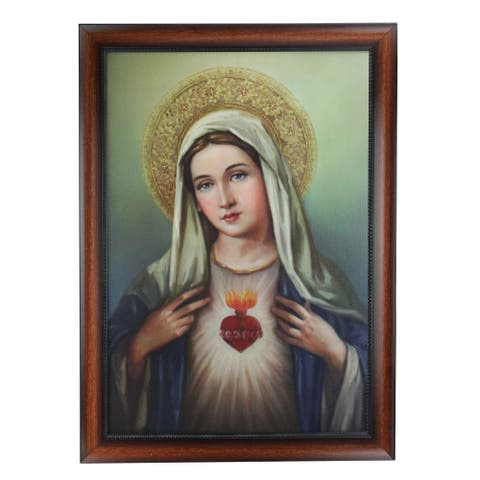 """27.5"""" Josephs Studio Immaculate Heart of the Blessed Virgin Mary Decorative Framed Art - N/A"""