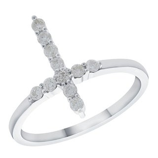 Prism Jewel 0 32Ct Round G H I2 Natural Diamond Cross Ring