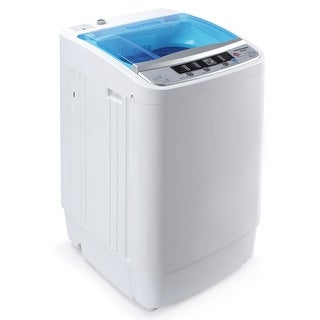 Della Portable 3.5KG Compact Fully Holds 7.7lbs Load Automatic Mini Home Washing Laundry Machine, White