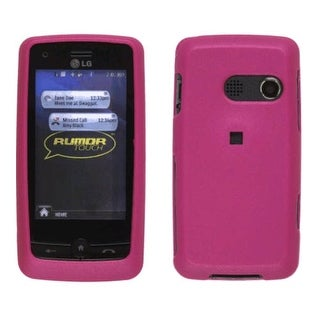 Soft Touch Case for LG Rumor Touch / Banter Touch LN510, Dark Pink
