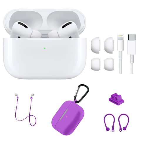 Apple AirPod Pro with Purple Silicone Accessories