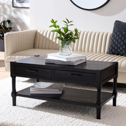 "SAFAVIEH Filbert 2-Drawer Bottom Shelf Coffee Table - 37.8"" W x 19"" L x 19"" H"