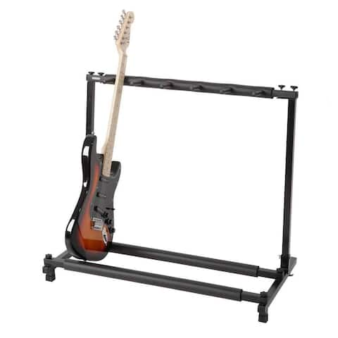 5 Multiple Holder-Triple Folding Multiple Guitar Holder Rack Stand Black