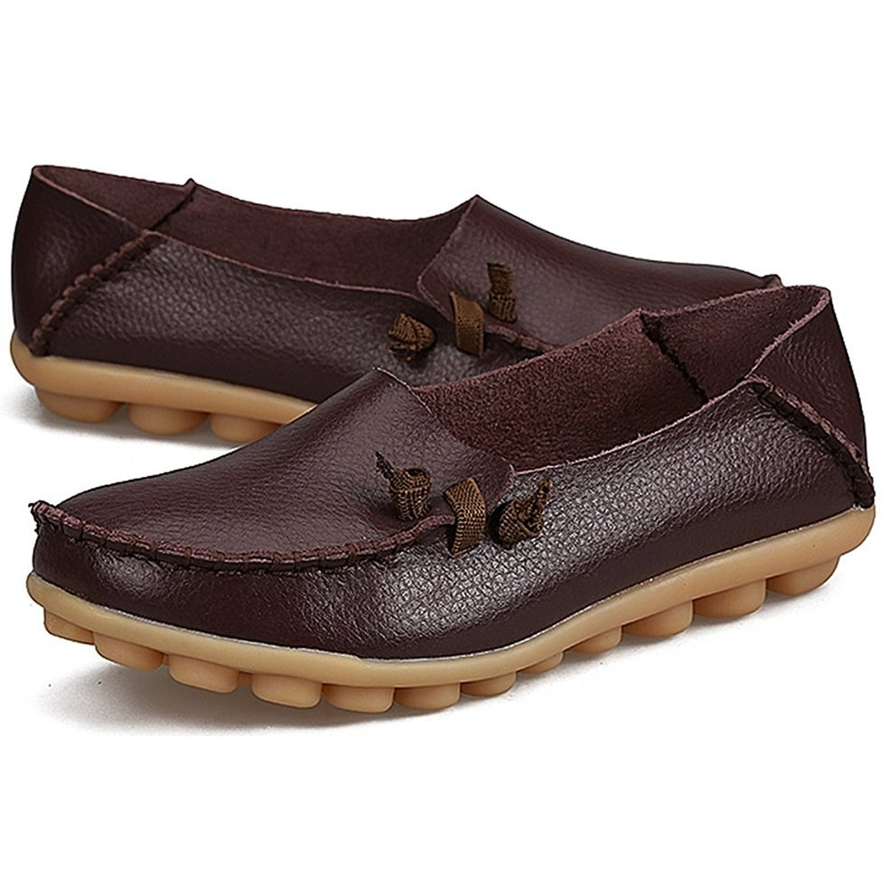 813cc092789fe Camping & Hiking LabatoStyle Women's Casual Leather Loafers Driving  Moccasins Flats Shoes