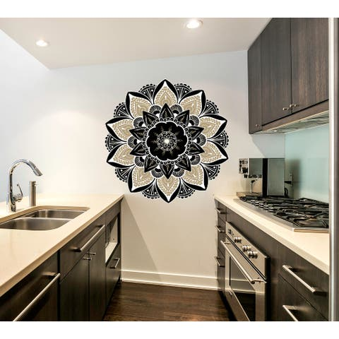 Namaste Boho Mandala Wall Decal, Namaste Boho Mandala Wall sticker, Namaste Boho Mandala wall decor