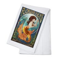 Florida Keys - Mermaid - Lantern Press Artwork (100% Cotton Towel Absorbent)