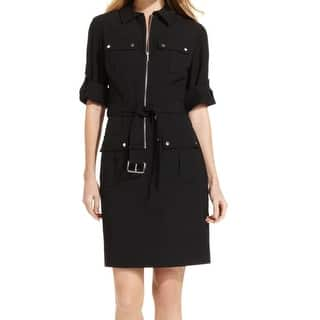 Michael Kors NEW Black Womens Size Small S Belted Shirt Dress|https://ak1.ostkcdn.com/images/products/is/images/direct/141a82555bdcacc0c86d150d4880dcc3b93f4ce7/Michael-Kors-NEW-Black-Womens-Size-Small-S-Belted-Shirt-Dress.jpg?impolicy=medium
