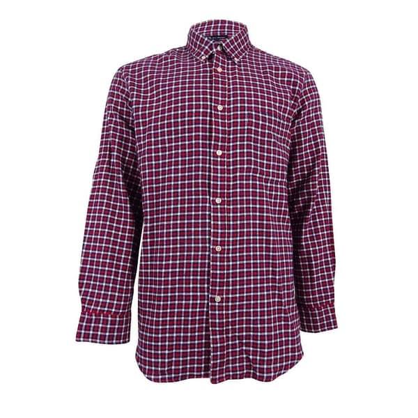 7b7899ac341 Shop John Ashford Men s Big and Tall Long-Sleeve Flannel Shirt (XL ...