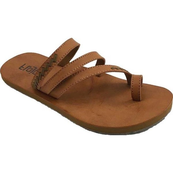 da36a9413831 Shop Flojos Women s Athena Toe Loop Sandal Tan Brown Microfiber - On Sale -  Free Shipping On Orders Over  45 - Overstock - 18818597